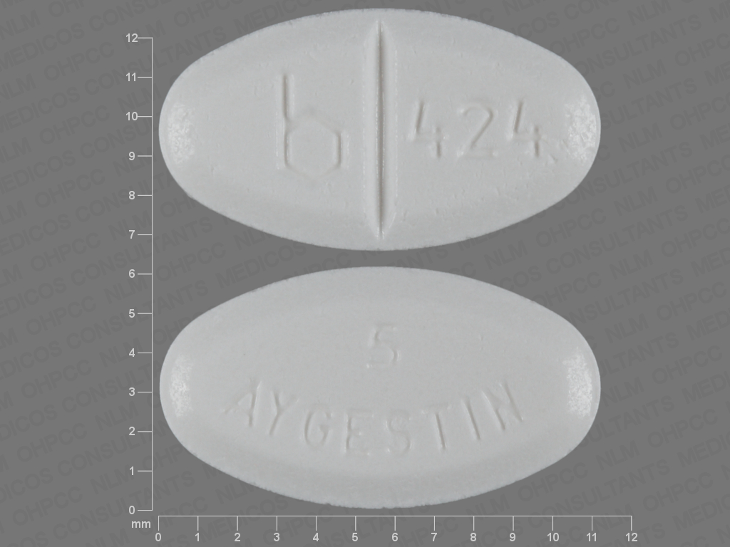 undefined undefined undefined norethindrone acetate 5 MG Oral Tablet [Aygestin]