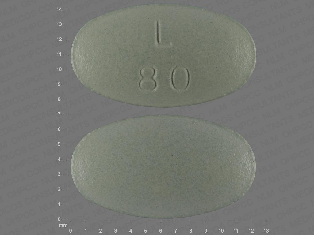 GREEN OVAL L;80 lurasidone hydrochloride 80 MG Oral Tablet [Latuda]