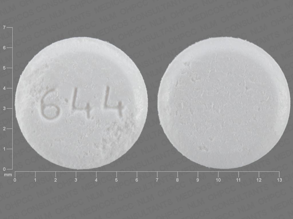 WHITE ROUND 644 hyoscyamine sulfate 0.125 MG Sublingual Tablet