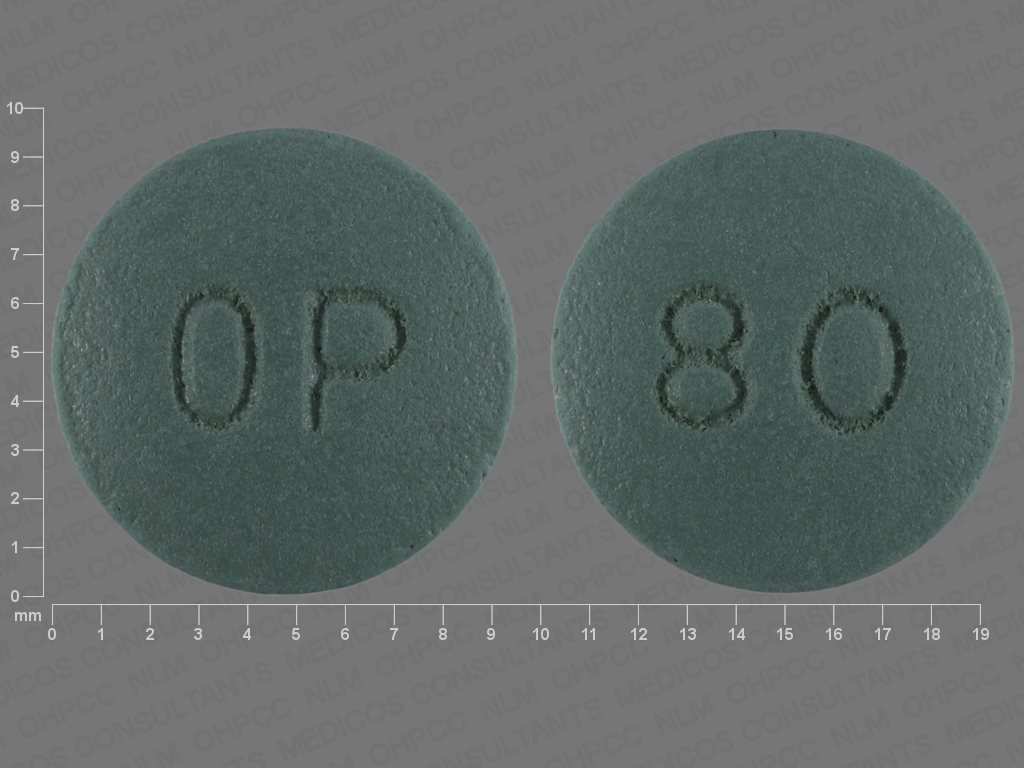 undefined undefined undefined 12 HR oxycodone hydrochloride 80 MG Extended Release Oral Tablet