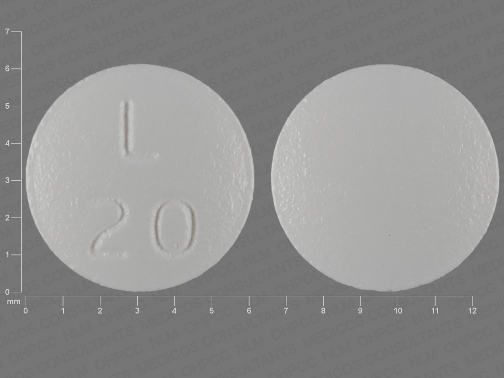 WHITE ROUND L;20 lurasidone hydrochloride 20 MG Oral Tablet [Latuda]