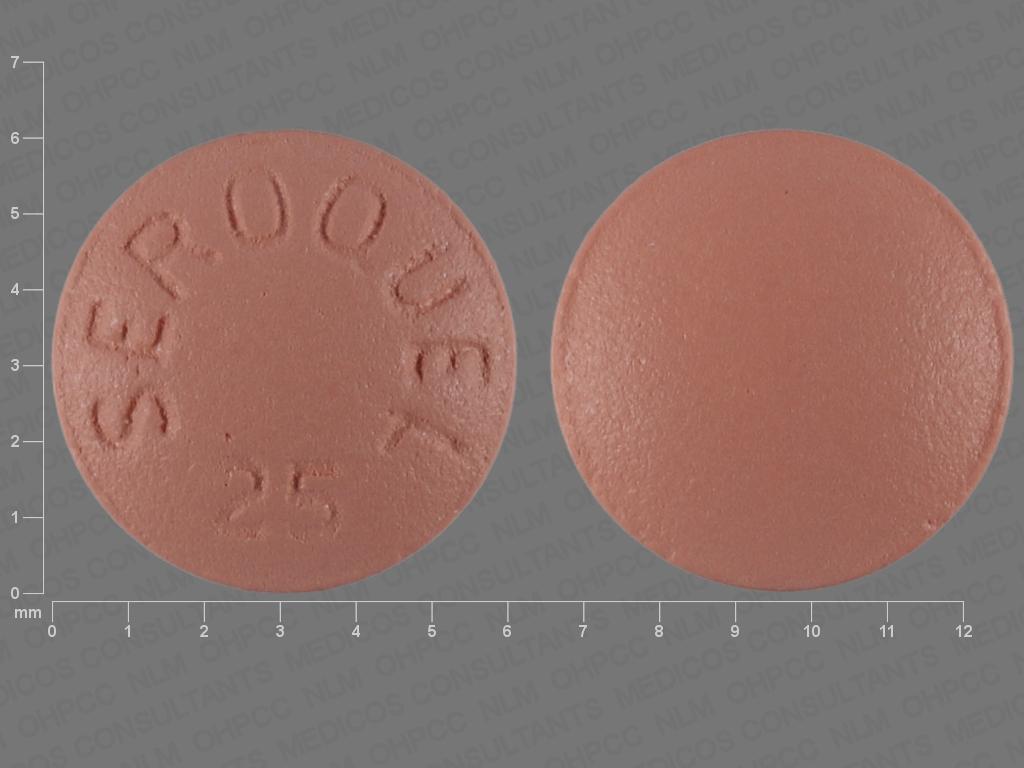 PINK ROUND SEROQUEL;25 quetiapine 25 MG Oral Tablet [Seroquel]