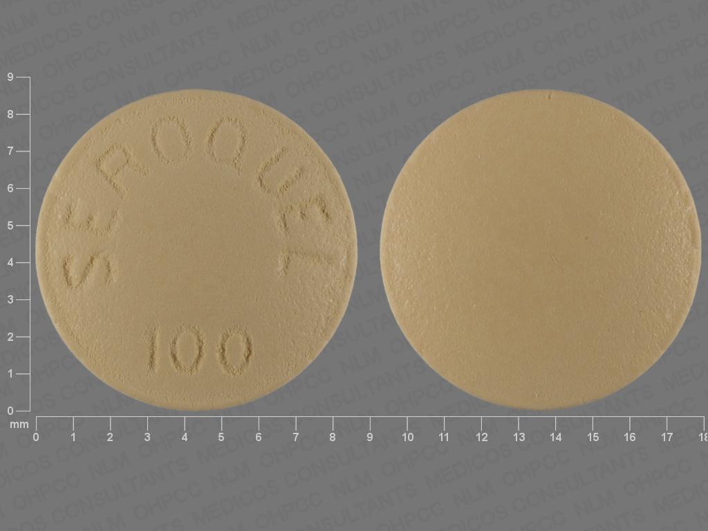 YELLOW ROUND SEROQUEL;100 quetiapine 100 MG Oral Tablet [Seroquel]