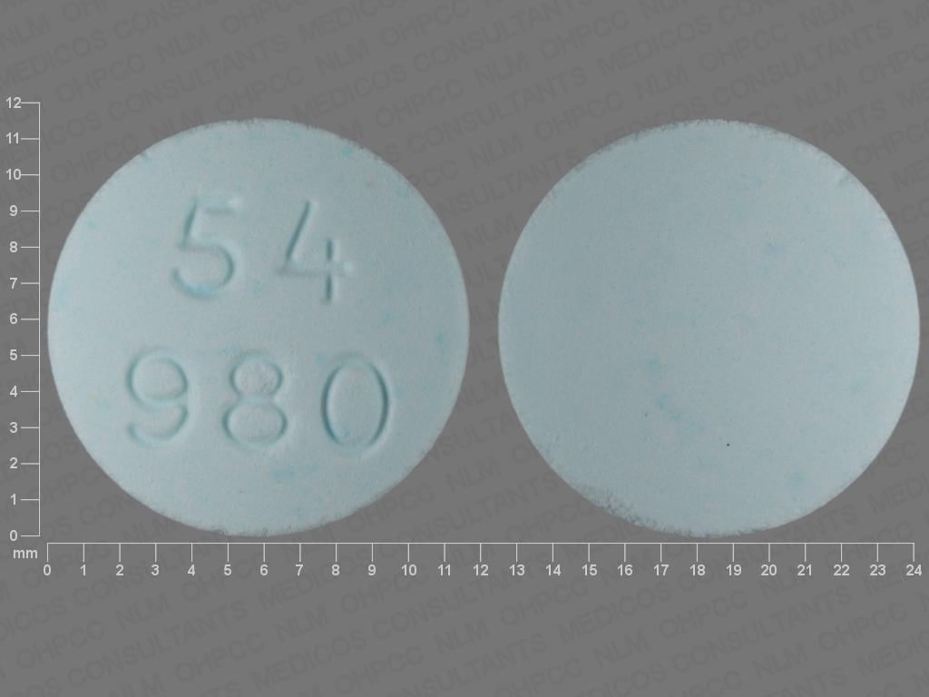 BLUE ROUND 54;980 cyclophosphamide 50 MG Oral Tablet