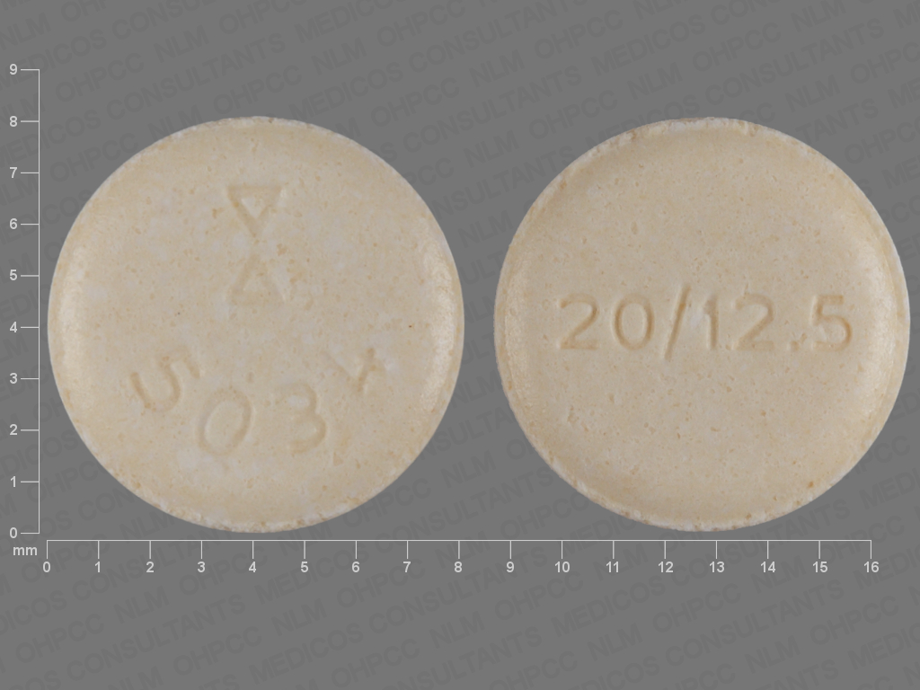 undefined undefined undefined hydrochlorothiazide 12.5 MG / lisinopril 20 MG Oral Tablet