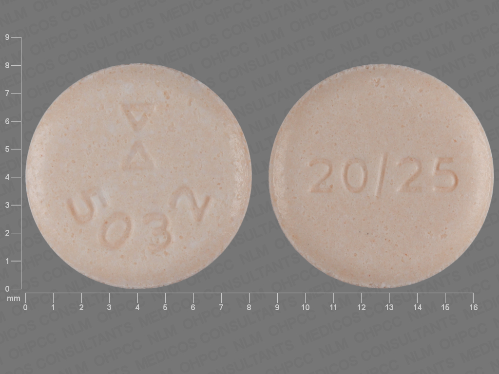 undefined undefined undefined hydrochlorothiazide 25 MG / lisinopril 20 MG Oral Tablet