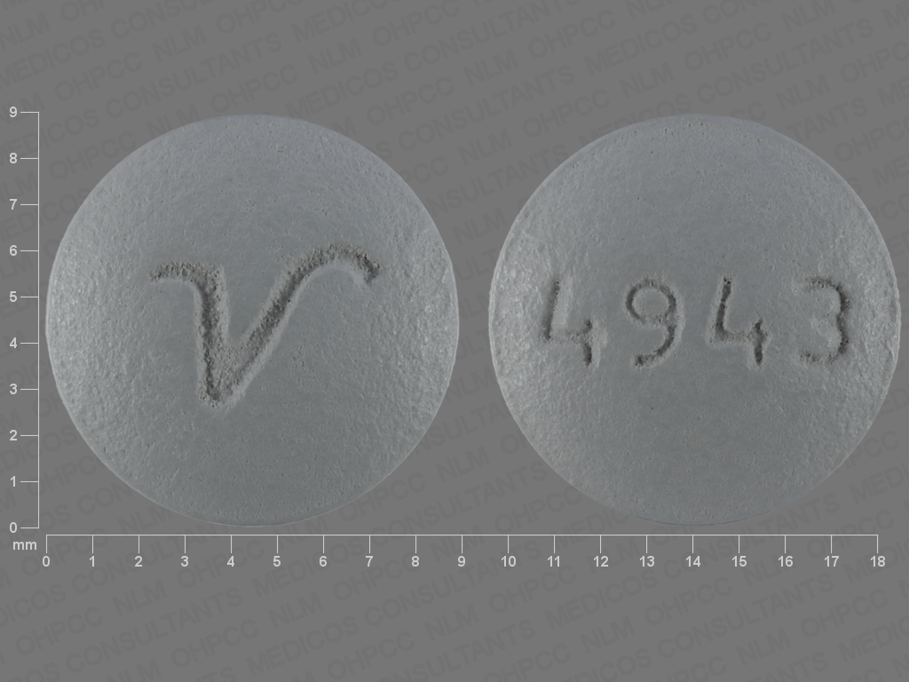 GRAY ROUND 4943;V perphenazine 16 MG Oral Tablet