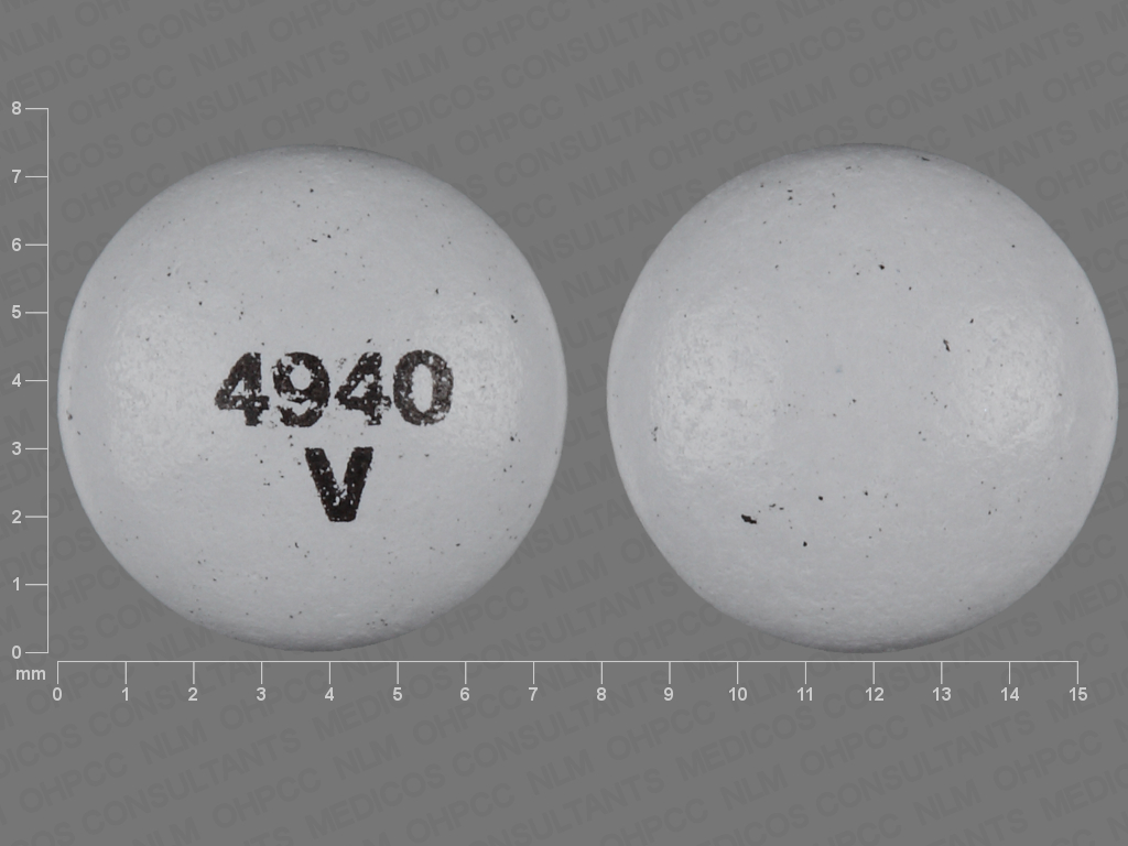 GRAY ROUND 4940;V perphenazine 2 MG Oral Tablet