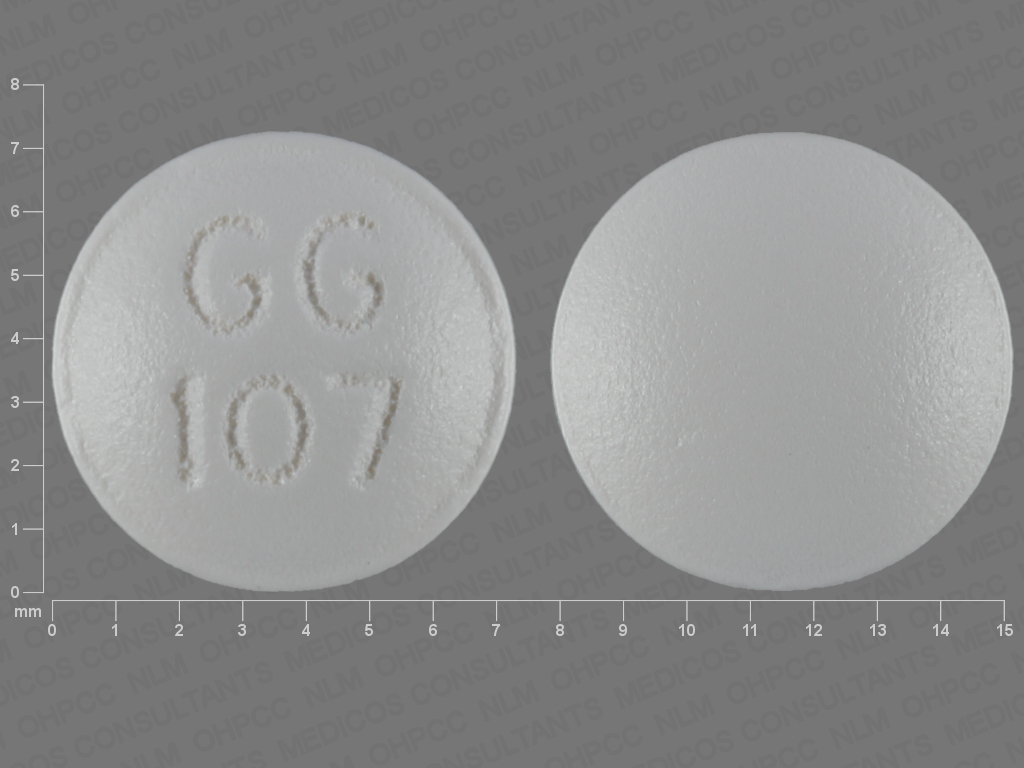 WHITE ROUND GG;107 perphenazine 4 MG Oral Tablet