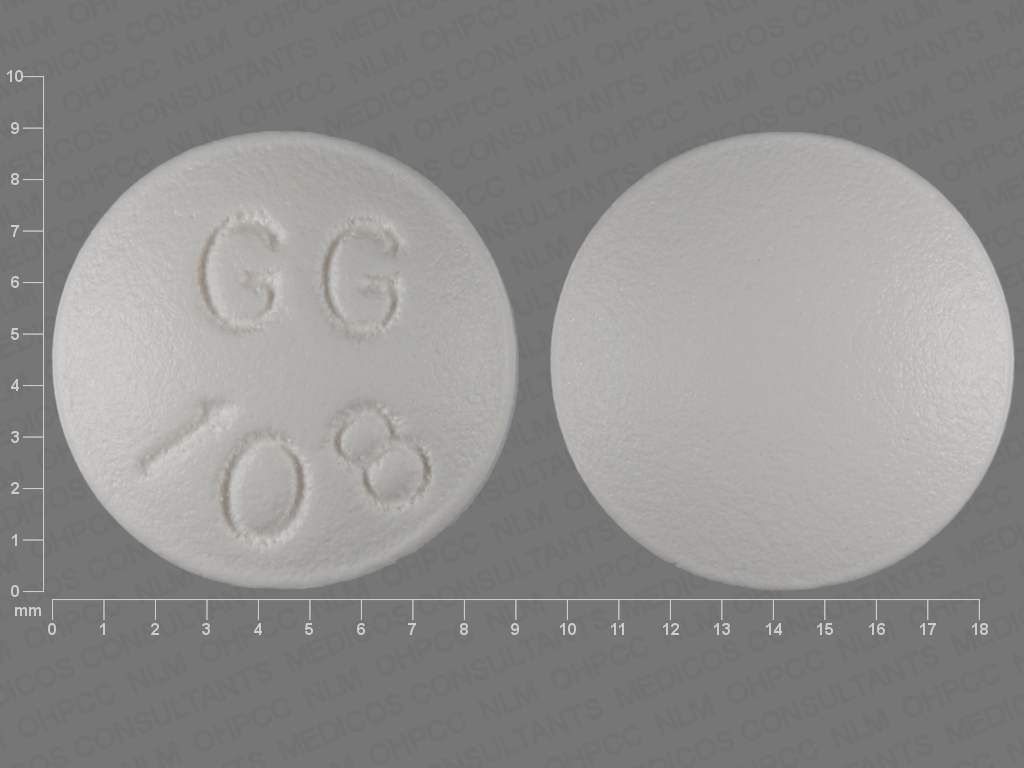 WHITE ROUND GG;108 perphenazine 8 MG Oral Tablet