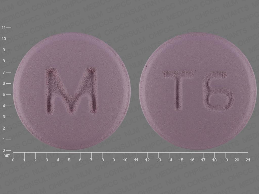 PURPLE ROUND M;T6 trifluoperazine 10 MG Oral Tablet