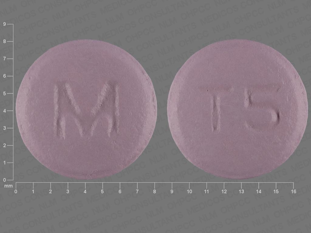 PURPLE ROUND M;T5 trifluoperazine 5 MG Oral Tablet