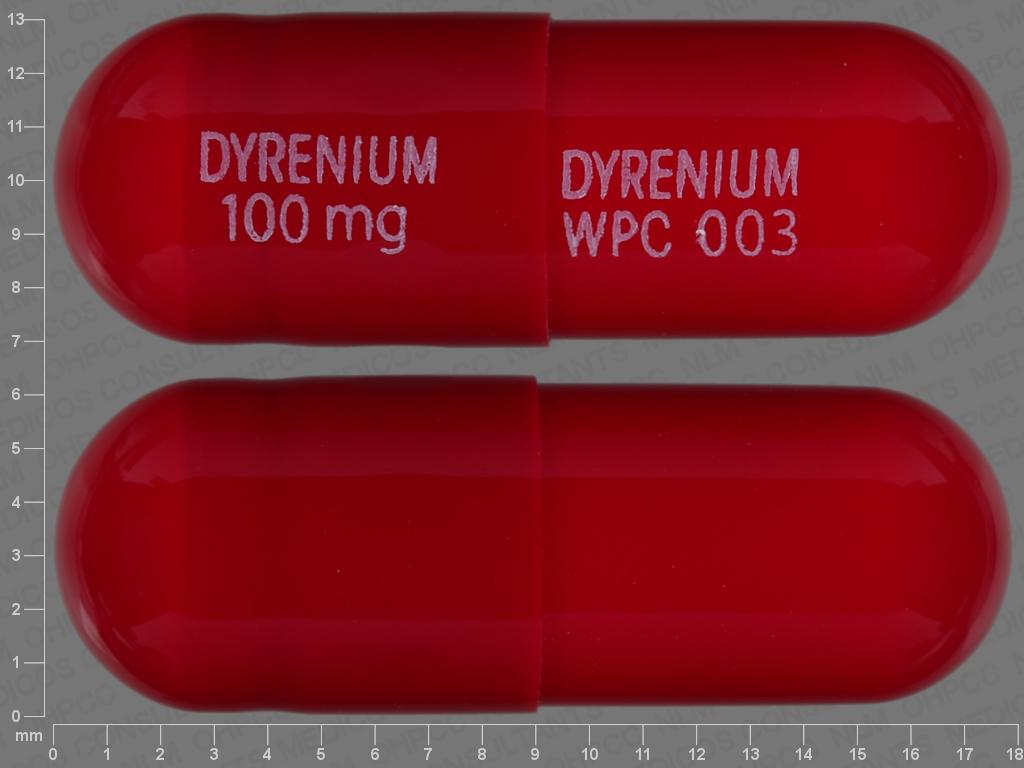 undefined undefined undefined triamterene 100 MG Oral Capsule [Dyrenium]