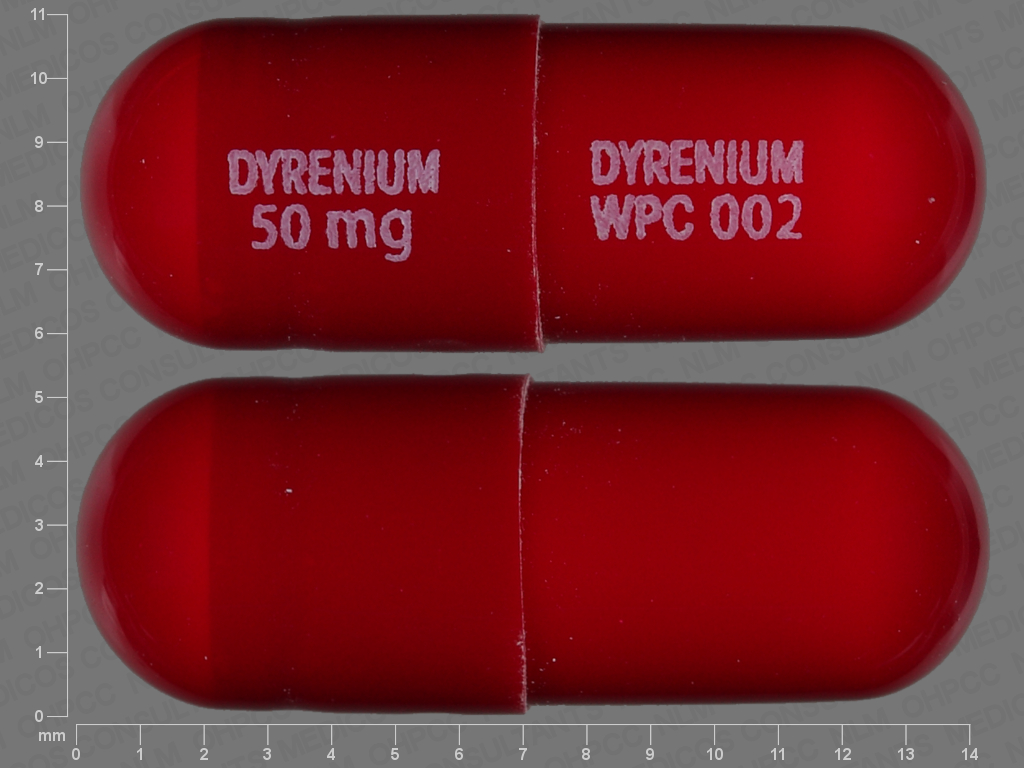 undefined undefined undefined triamterene 50 MG Oral Capsule [Dyrenium]