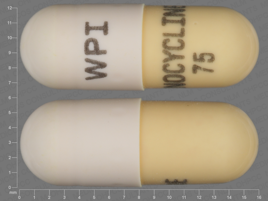 undefined undefined undefined minocycline 75 MG Oral Capsule