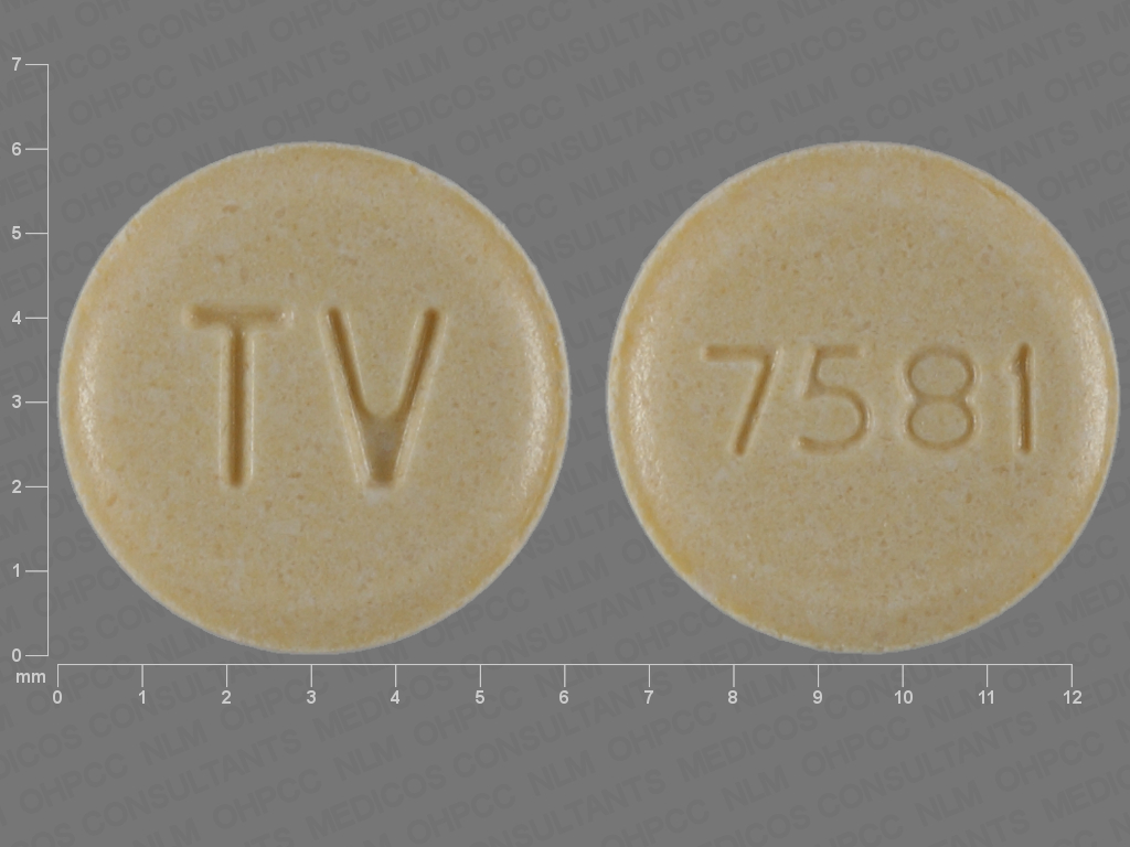 YELLOW ROUND TV;7581 aripiprazole 15 MG Oral Tablet
