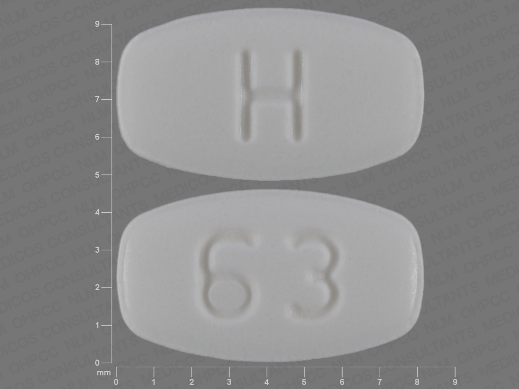 WHITE RECTANGLE 63;H aripiprazole 10 MG Oral Tablet