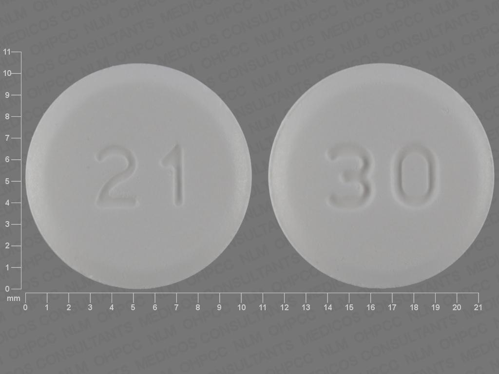 WHITE ROUND 30;21 aripiprazole 30 MG Oral Tablet