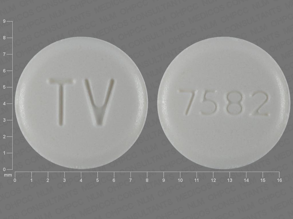 WHITE ROUND TV;7582 aripiprazole 20 MG Oral Tablet