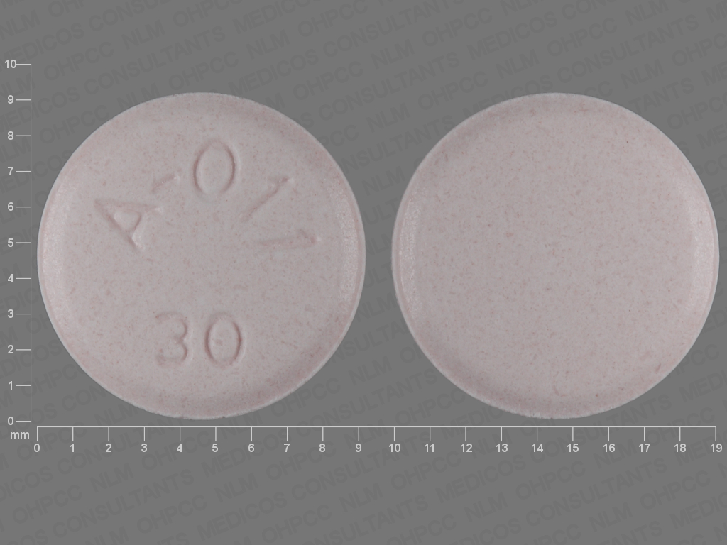 PINK ROUND A;011;30 aripiprazole 30 MG Oral Tablet [Abilify]