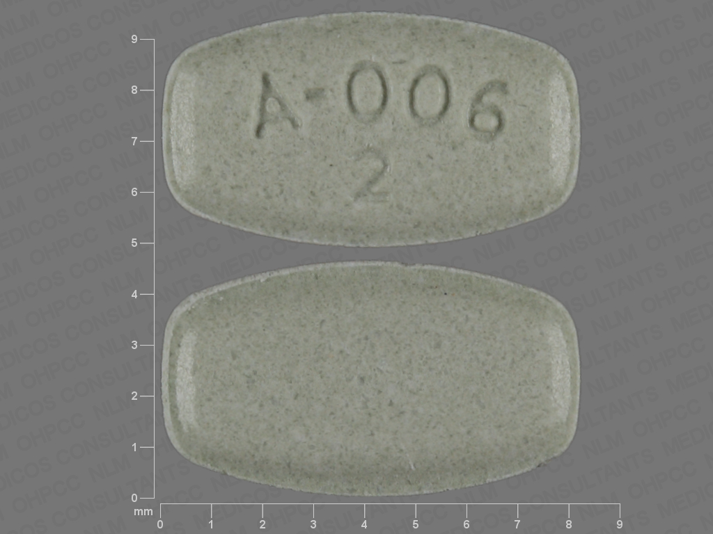GREEN RECTANGLE A;006;2 aripiprazole 2 MG Oral Tablet [Abilify]