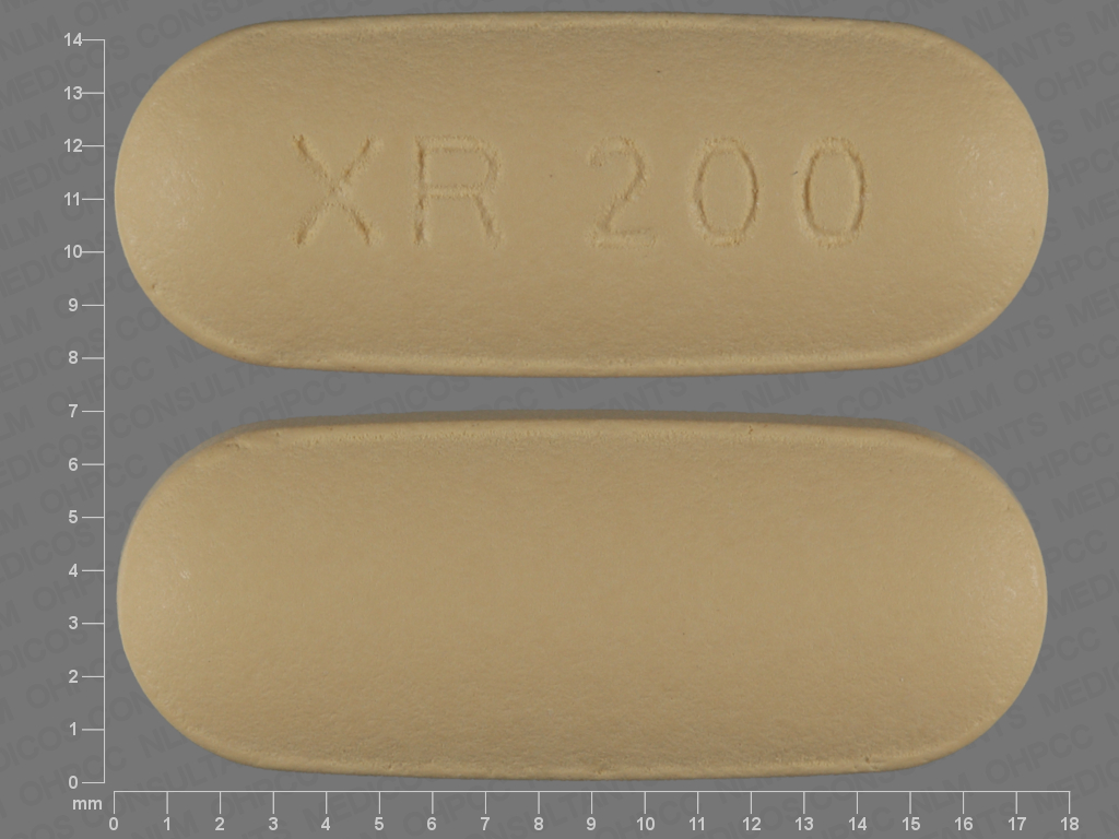 YELLOW OVAL XR;200 24 HR quetiapine 200 MG Extended Release Oral Tablet [Seroquel]