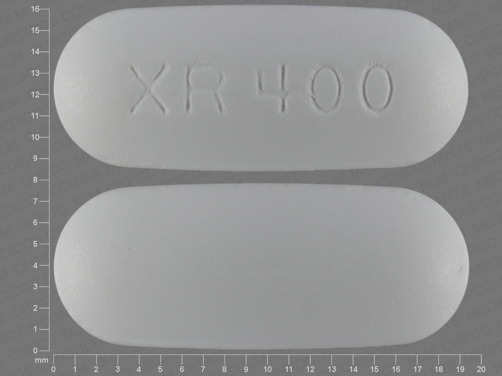 WHITE OVAL XR;400 24 HR quetiapine 400 MG Extended Release Oral Tablet [Seroquel]