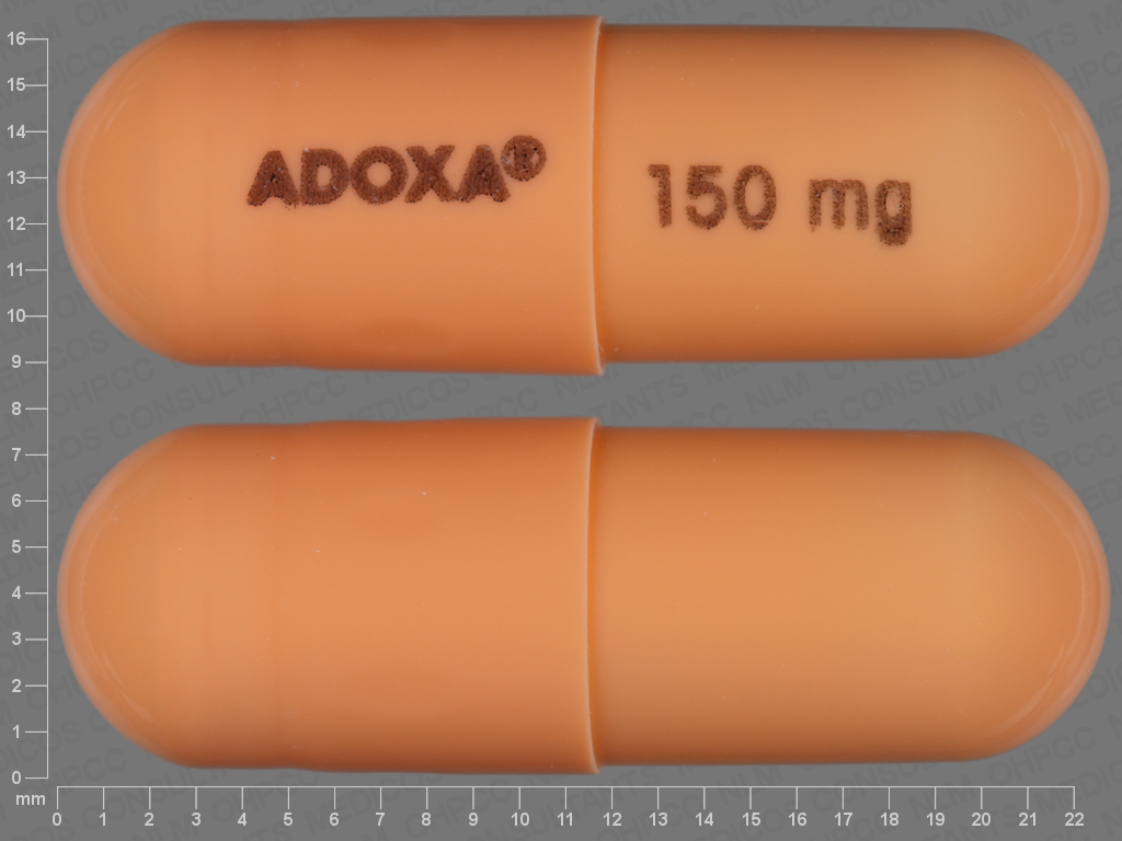 undefined undefined undefined doxycycline monohydrate 150 MG Oral Capsule [Adoxa]