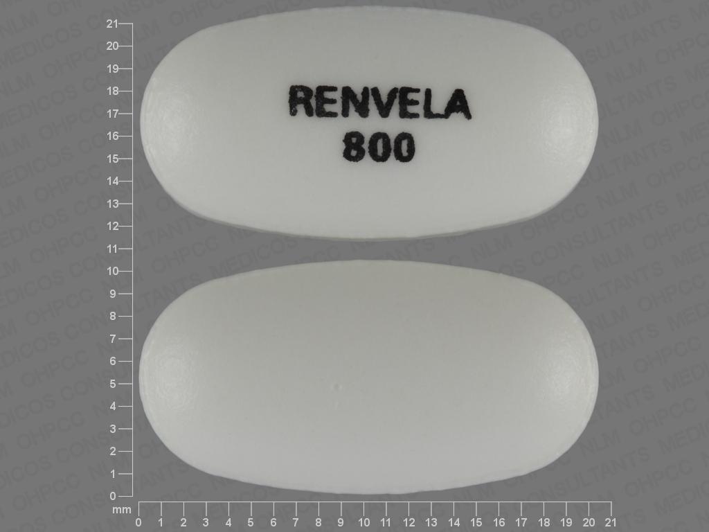 undefined undefined undefined sevelamer carbonate 800 MG Oral Tablet [Renvela]