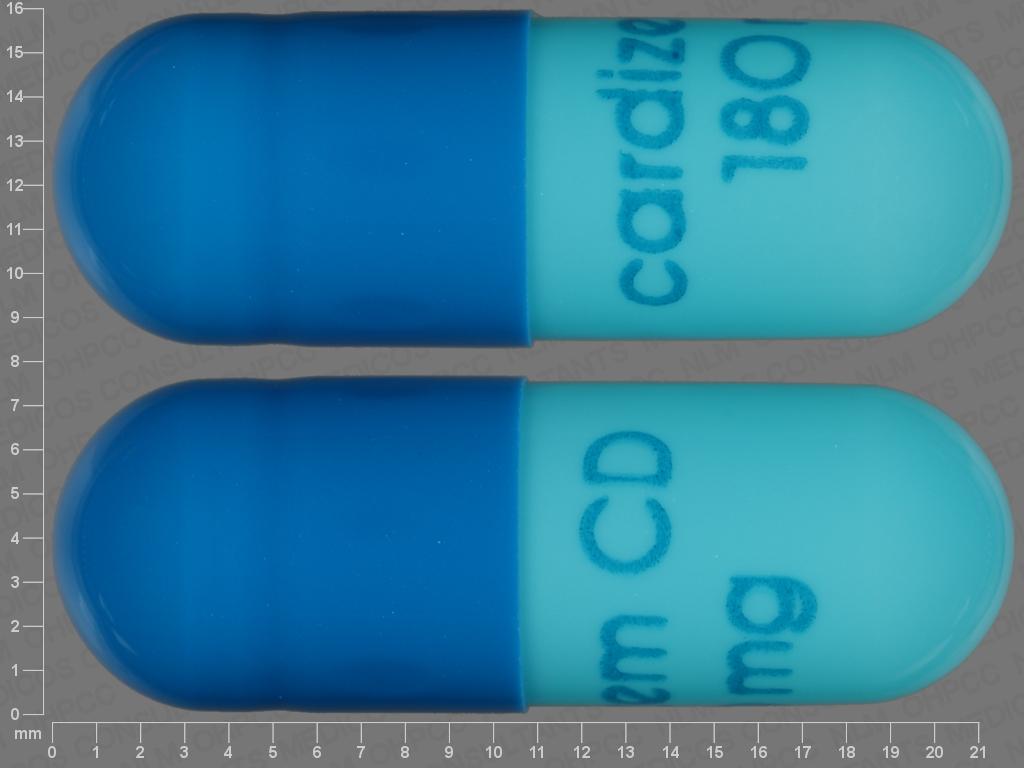 undefined undefined undefined 24 HR diltiazem hydrochloride 180 MG Extended Release Oral Capsule [Cardizem]