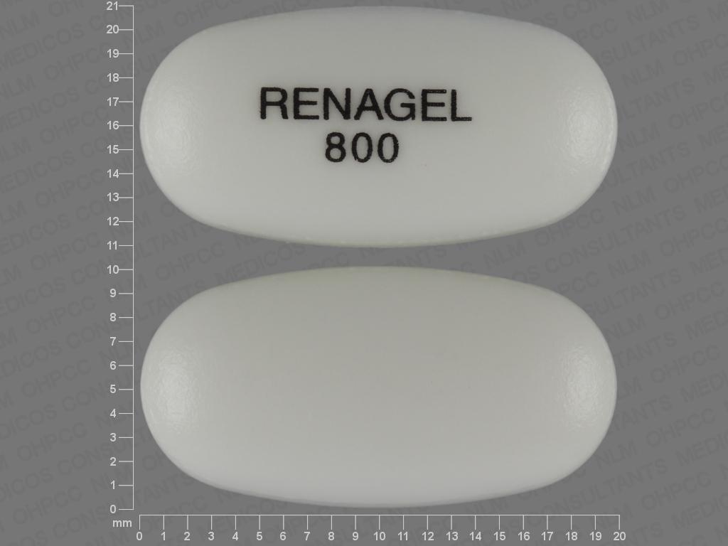 undefined undefined undefined sevelamer hydrochloride 800 MG Oral Tablet [RenaGel]