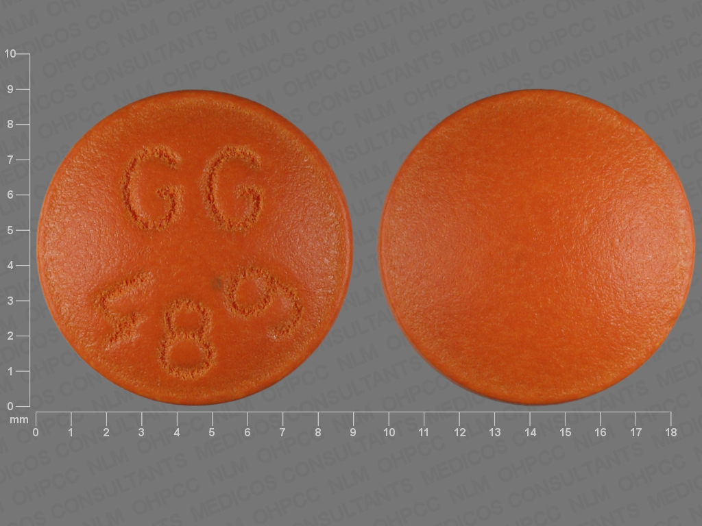 BROWN ROUND GG;489 fluphenazine hydrochloride 5 MG Oral Tablet