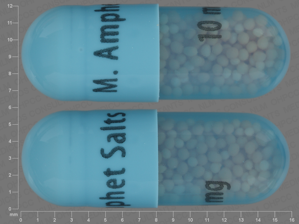 undefined undefined undefined 24 HR amphetamine aspartate 2.5 MG / amphetamine sulfate 2.5 MG / dextroamphetamine saccharate 2.5 MG / dextroamphetamine sulfate 2.5 MG Extended Release Oral Capsule