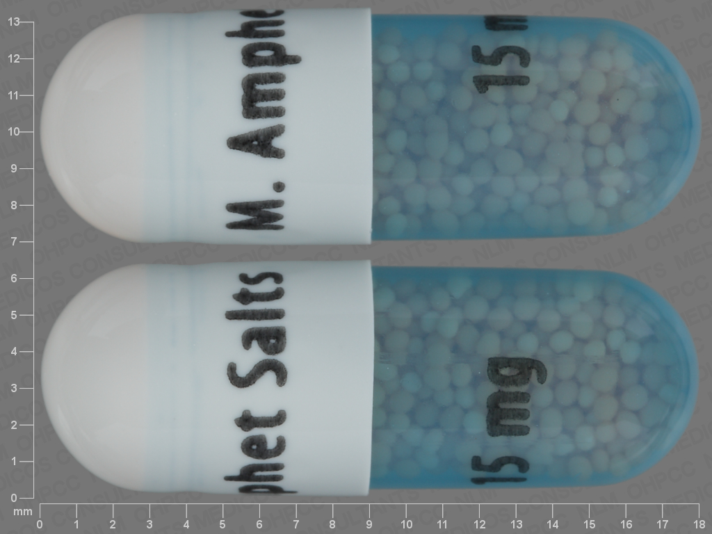 undefined undefined undefined 24 HR amphetamine aspartate 3.75 MG / amphetamine sulfate 3.75 MG / dextroamphetamine saccharate 3.75 MG / dextroamphetamine sulfate 3.75 MG Extended Release Oral Capsule