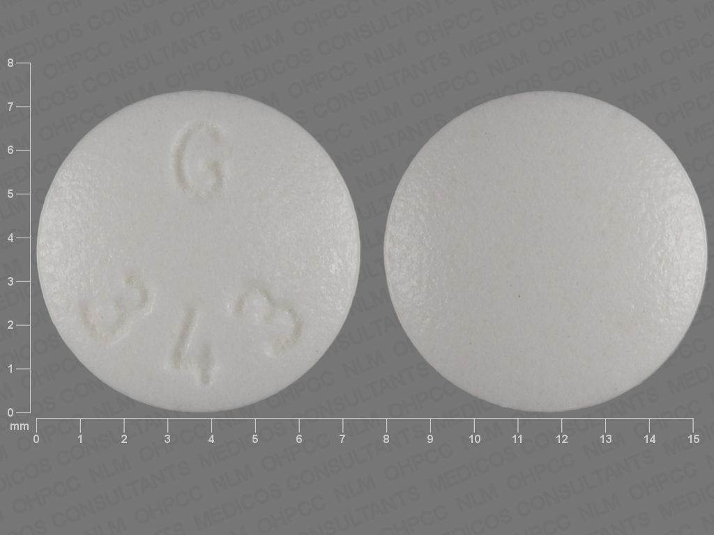 WHITE ROUND G;343 24 HR oxybutynin chloride 15 MG Extended Release Oral Tablet