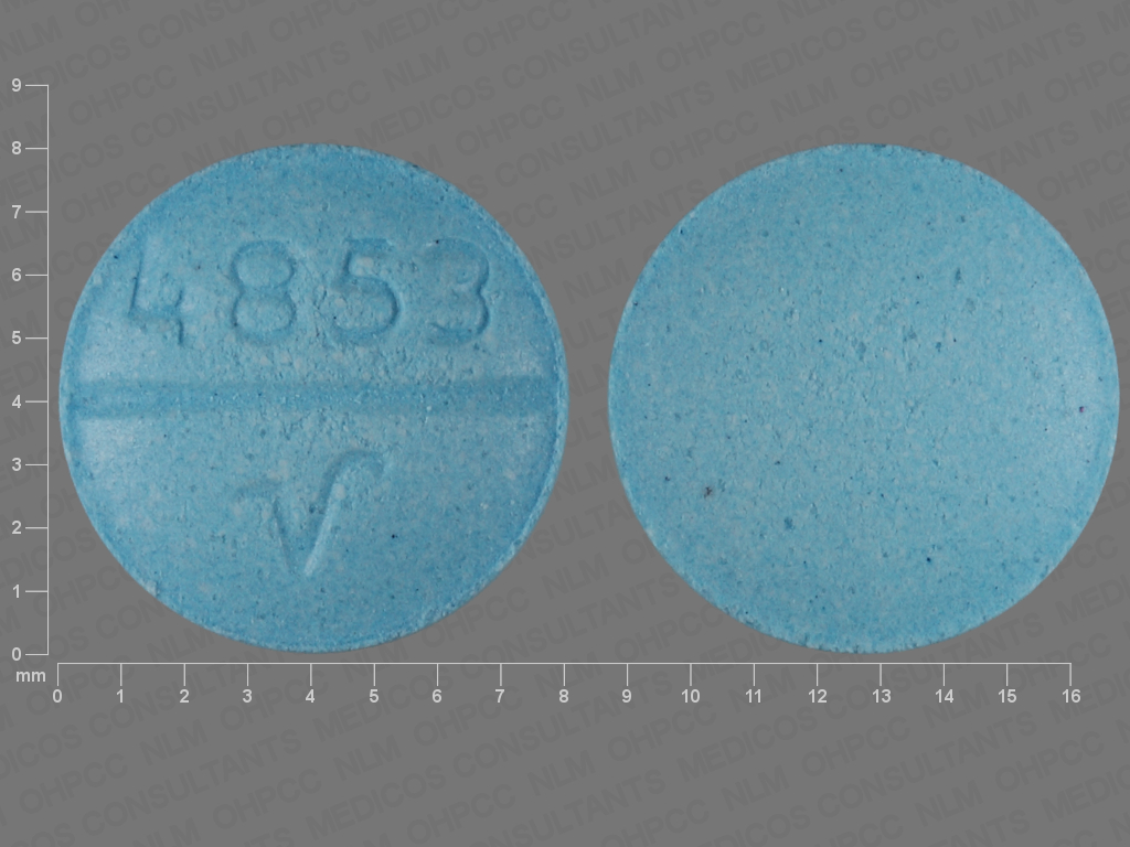 BLUE ROUND 4853;V oxybutynin chloride 5 MG Oral Tablet