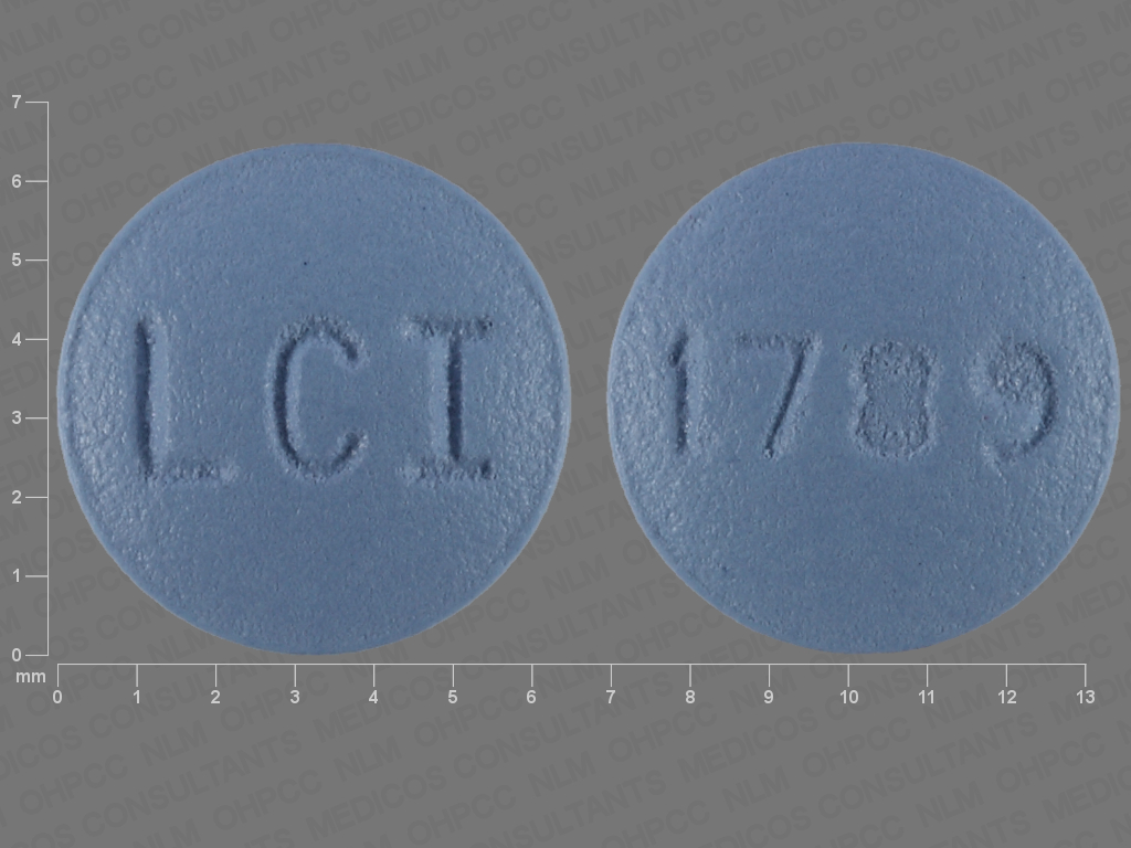 BLUE ROUND LCI;1789 fluphenazine hydrochloride 2.5 MG Oral Tablet