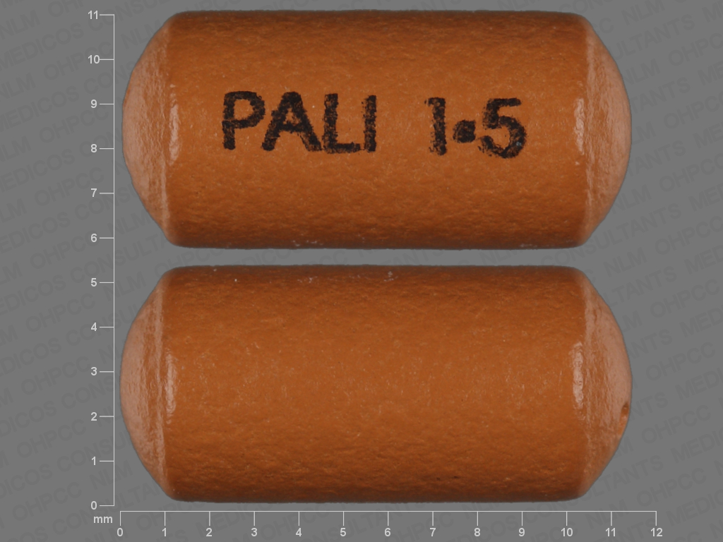undefined undefined undefined 24 HR paliperidone 1.5 MG Extended Release Oral Tablet [Invega]